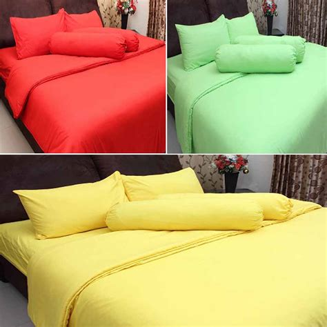 Bed Cover Plus Sprei rosewell bed cover sprei polos microtex 180x200cm elevenia