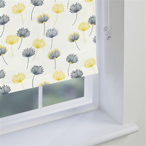 yellow patterned blinds patterned kitchen roller blinds modern iagitos com