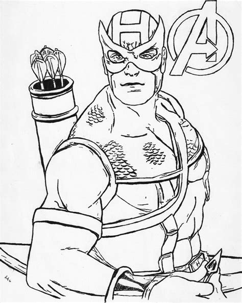 hawkeye avengers coloring page avengers hawkeye free colouring pages