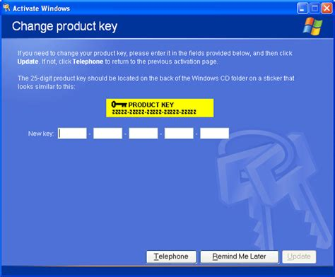 windows reset password activation key how to change windows xp product key after install