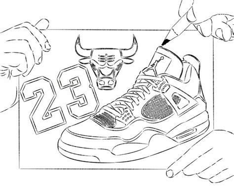 Printable Coloring Pages Jordans | michael jordan coloring pages coloring home