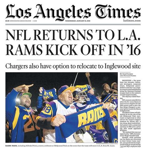 st louis rams move back to la 17 best images about los angeles rams on