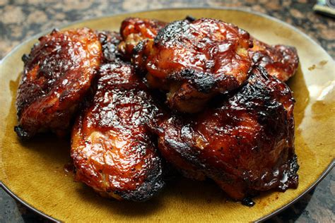 oven barbecue chicken thighs my mother s daughter