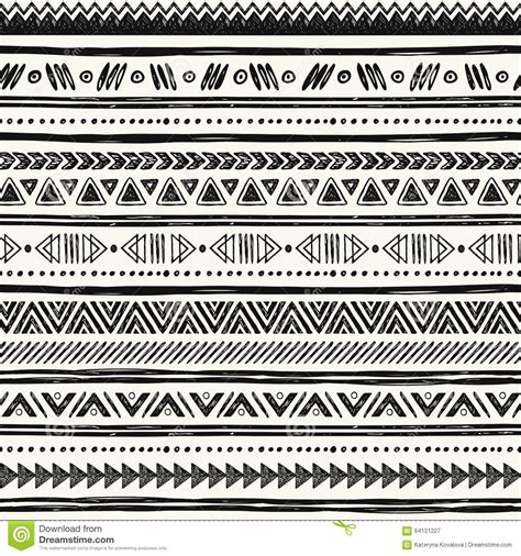 tribal pattern drawn tribal hand drawn background ethic doodle pattern stock
