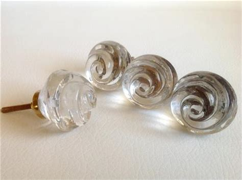 chic shabby clear glass swirl cabinet furniture