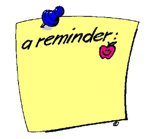 Reminder Template by Reminder In Color Clip Gallery