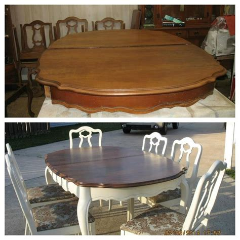 kitchen table refinishing ideas the 25 best refurbished dining tables ideas on