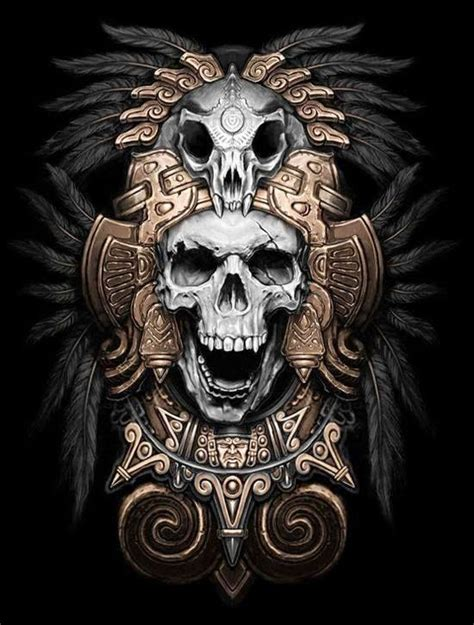 Imagenes Calaveras Aztecas | tatuajes aztecas y dise 241 os exclusivos belagoria la web