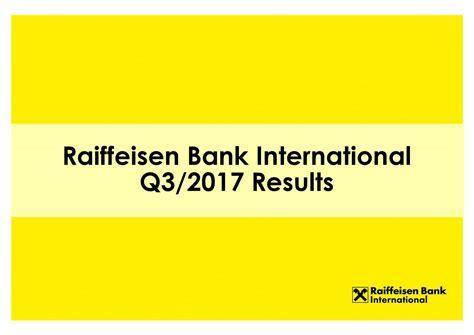 Raiffeisen Bank International Ag Adr 2017 Q3 Results