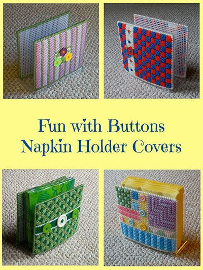 slipcover holders beginner plastic canvas patterns fun with buttons napkin