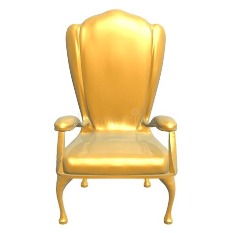 Golden Chairs by Golden Chair Of King Stock Illustration Image Of Success