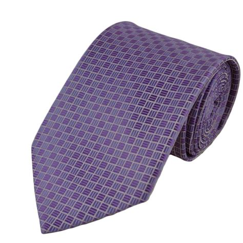 lilac small squares checked tie from ties planet uk