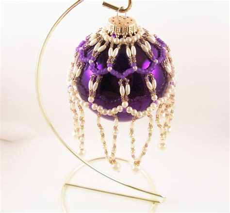 beaded ornament cover patterns free pearl ornament cover pattern beading tutorial in pdf