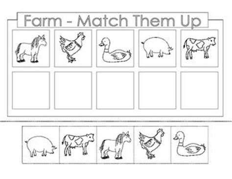 free printable preschool cut and paste worksheets free farm theme there are 4 worksheets each page