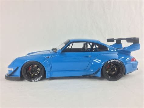 rwb porsche blue gt spirit scale 1 18 porsche 911 993 rwb blue