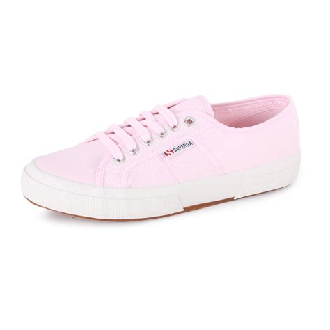 light pink shoes superga 2750 cotu womens canvas trainers light pink