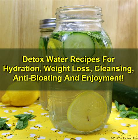 Detox For Bloating by Detox Water Recipes For Hydration Weight Loss Cleansing