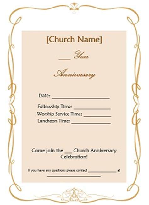 Church Invitation Templates Free church anniversary ideas