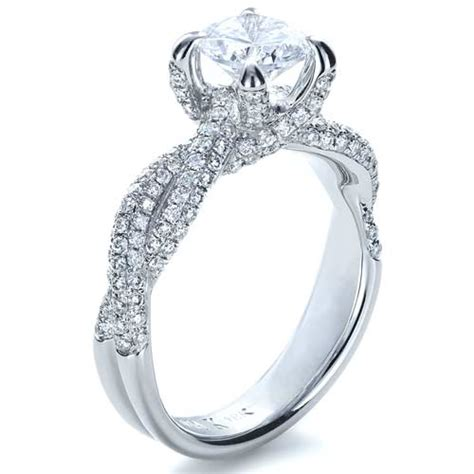 micro pave twisted shank engagement ring vanna k