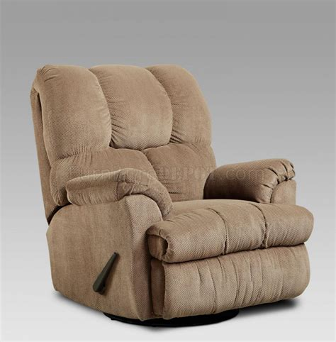 Cloth Recliners by Fabric Modern Swivel Rocker Recliner