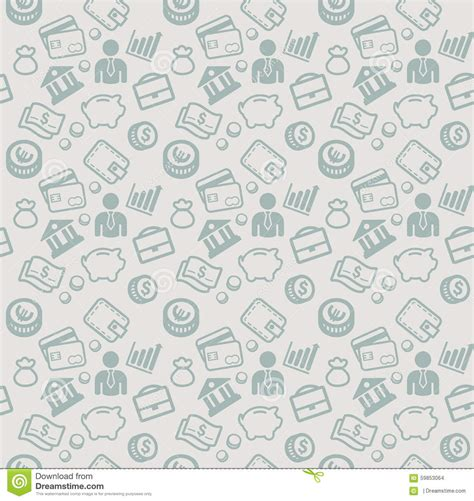 vector pattern money vector seamless pattern with business and money icons