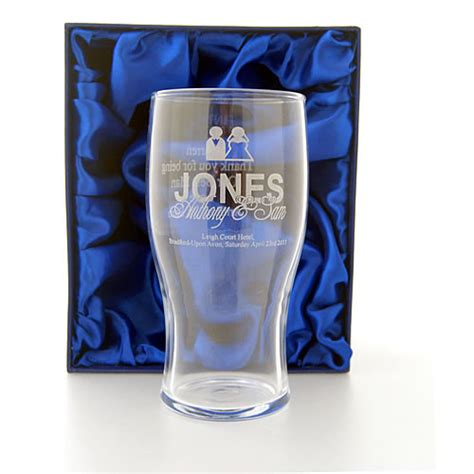 Wedding Gift Glasses by Engraved Wedding Pint Glass Ideal Best Gift