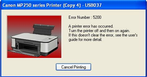 reset canon mp250 error p08 fixing the printer