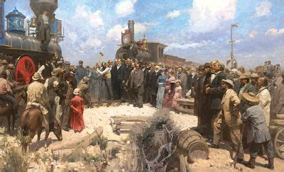 leland stanford the of a railroad tycoon books golden spike ceremony mian situ surrounded by central