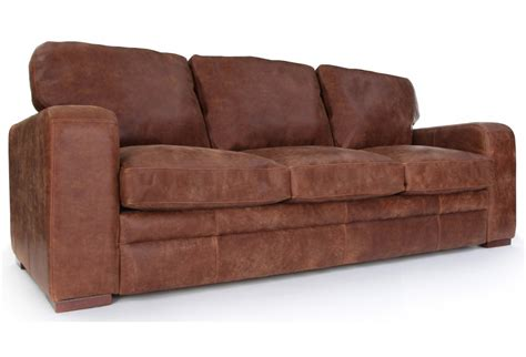 Rustic Leather Sofas Urbanite Rustic Leather Large Sofa