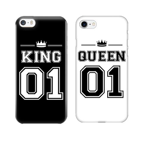 king  queen  couple phone case  iphone   cute
