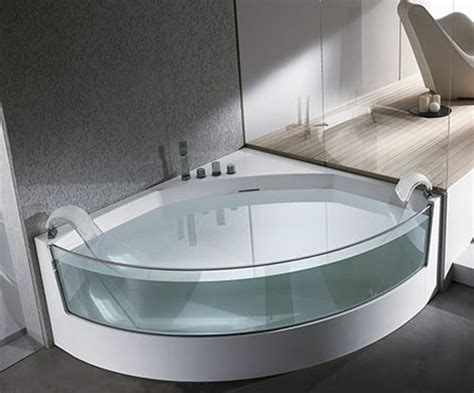 Corner Whirlpool Bathtubs Clear Sided Bathtub From Teuco Gorgeous View Whirlpool