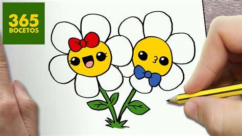 imagenes de flores para dibujar faciles paso a paso como dibujar flores kawaii paso a paso dibujos kawaii