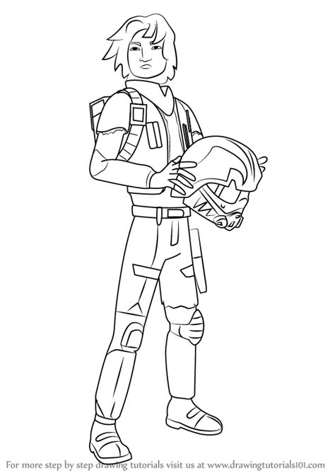 coloring pages wars rebels learn how to draw ezra bridger from wars rebels