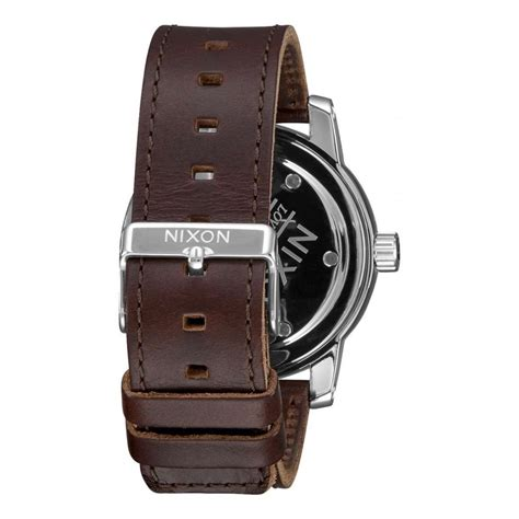 Jam Nixon Patriot Leather Black Original 100 nixon patriot leather black mens accessories from attic clothing uk