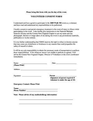 volunteer consent form template consent form template for research fillable printable