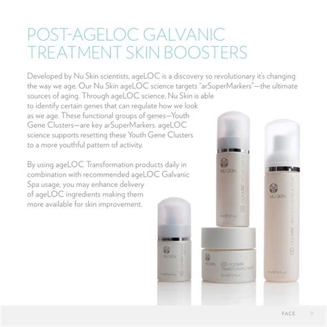 Nu Skin Ageloc Transformation Set age loc nu skin anti aging skin care new galvanic spa
