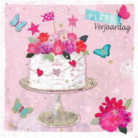 verjaardag 20 jaar bloemen verjaardagskaart fijne verjaardag taart met bloemen