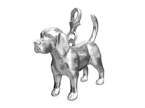 Beagle Charm   Sterling Silver   Fits Pandora Bracelet