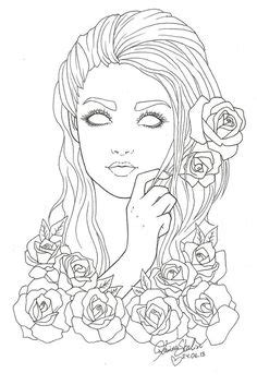 beautiful woman eyes coloring pages for adults sketch