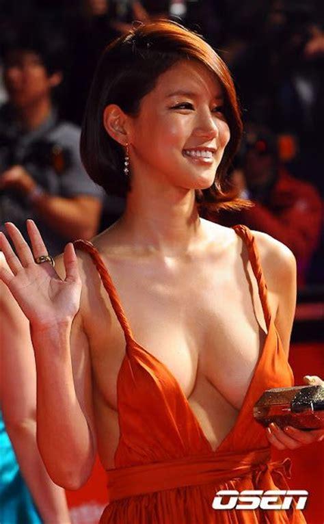 film hot orang korea korean actress oh in hye wearing sexy orange dress 16 pics