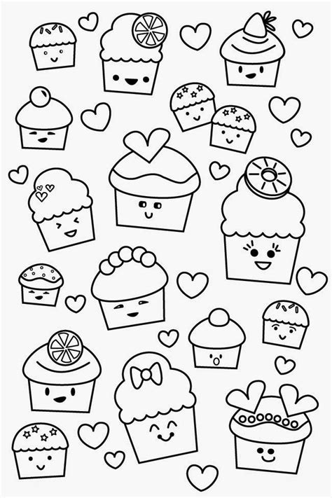 printable coloring pages kawaii free kawaii with faces coloring pages