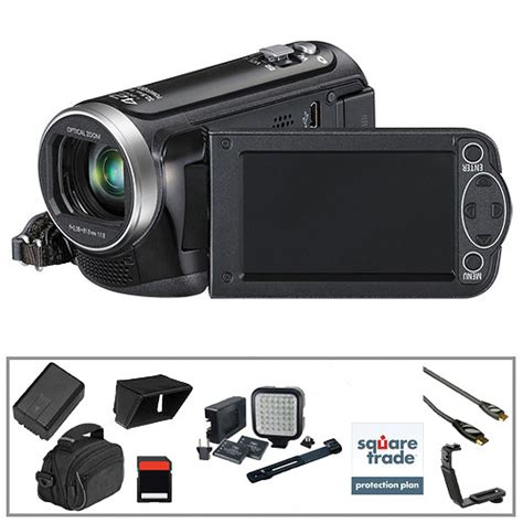 Panasonic Hd 100 Am panasonic hc v100 hd camcorder deluxe accessories b h