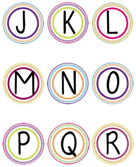 printable letters of the alphabet for word wall word wall printable circles letters j r to make a