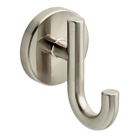 Home Depot Bathroom Hooks by Delta Lyndall Single Towel Hook In Spotshield Brushed Nickel Ldl35 Sn The Home Depot