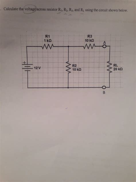 calculate the voltage across resistor r1 r2 r3 chegg