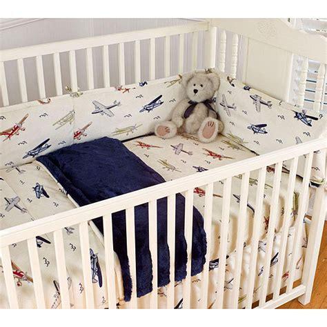 vintage airplane crib bedding vintage airplanes blue 4 piece crib bedding set 12541632