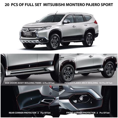 mitsubishi pajero sport 2017 black 20 pcs of kit full set genuine parts mitsubishi montero