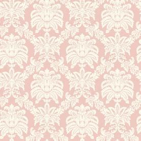 pink wallpaper lowes shop allen roth pink sweeping damask wallpaper at lowes com