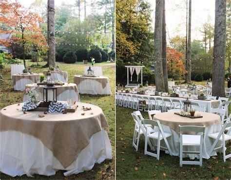 vintage backyard modern rustic wedding table decorations with rustic