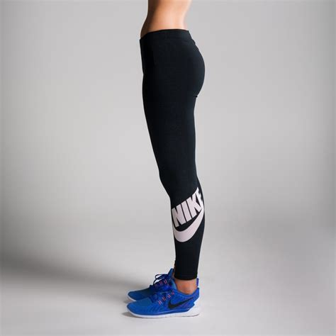 Lengging Sport Can Do It 1014 nike leg a see logo womens black white